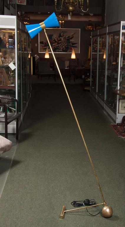 Beautiful Italian Counterweight Floor Lamp In The Style