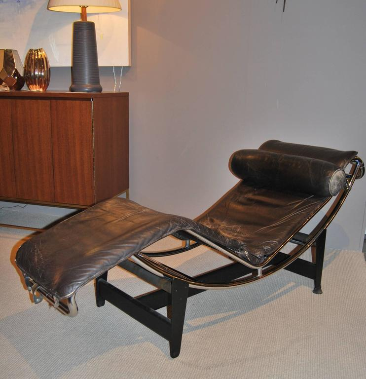 Mid-Century Modern Early Le Corbusier/Jeanneret/Perriand LC4 Chaise Lounge For Sale