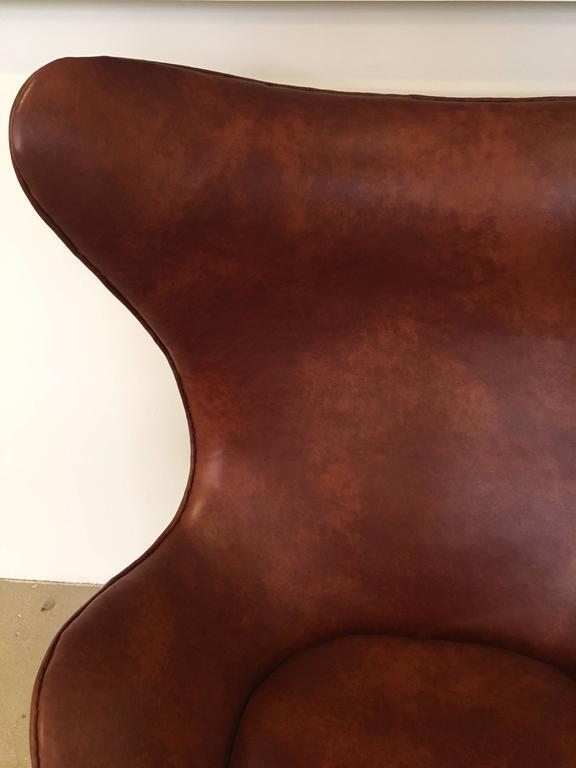 Aluminum Arne Jacobsen Egg Chair Produced by Fritz Hansen, 1965 For Sale