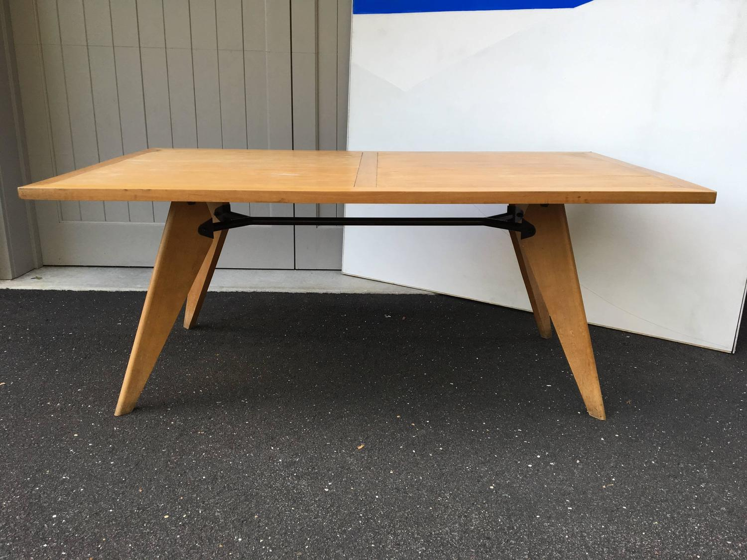 Jean Prouve Dining Table France 1950s For Sale At 1stdibs
