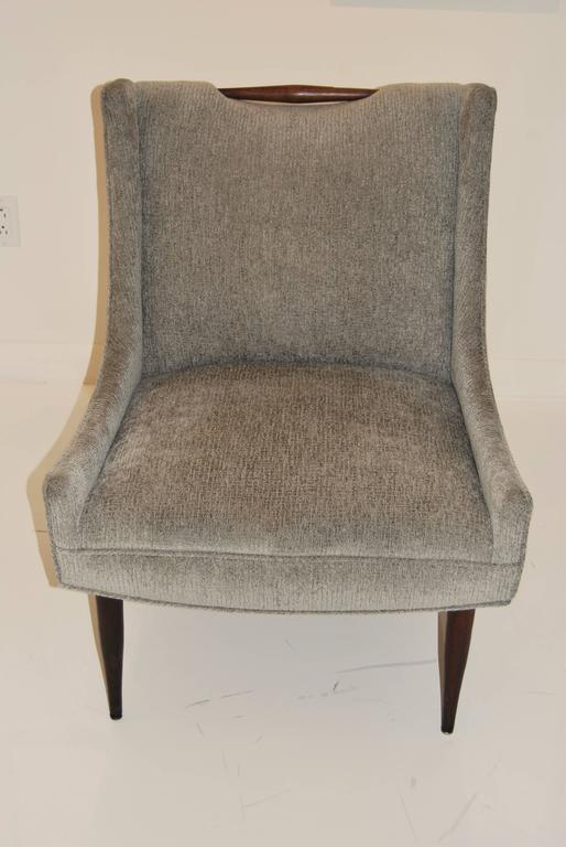 American Pair of Harvey Probber Slipper Chairs For Sale