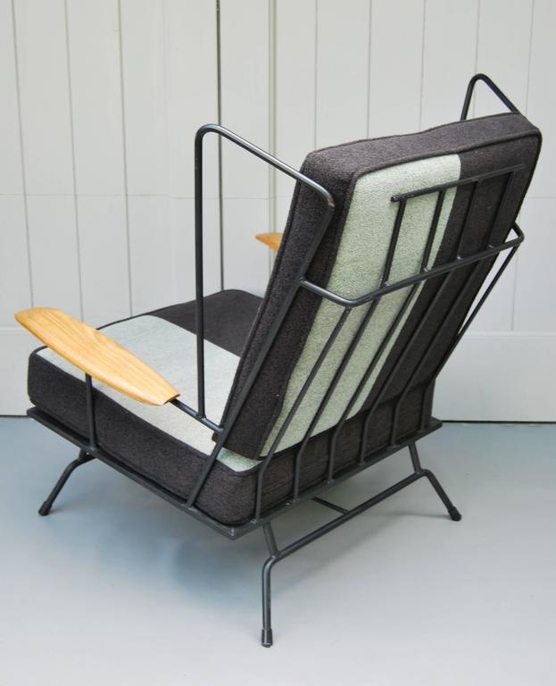 Mid-20th Century Early Modern American Lounge Chair with Ottoman For Sale