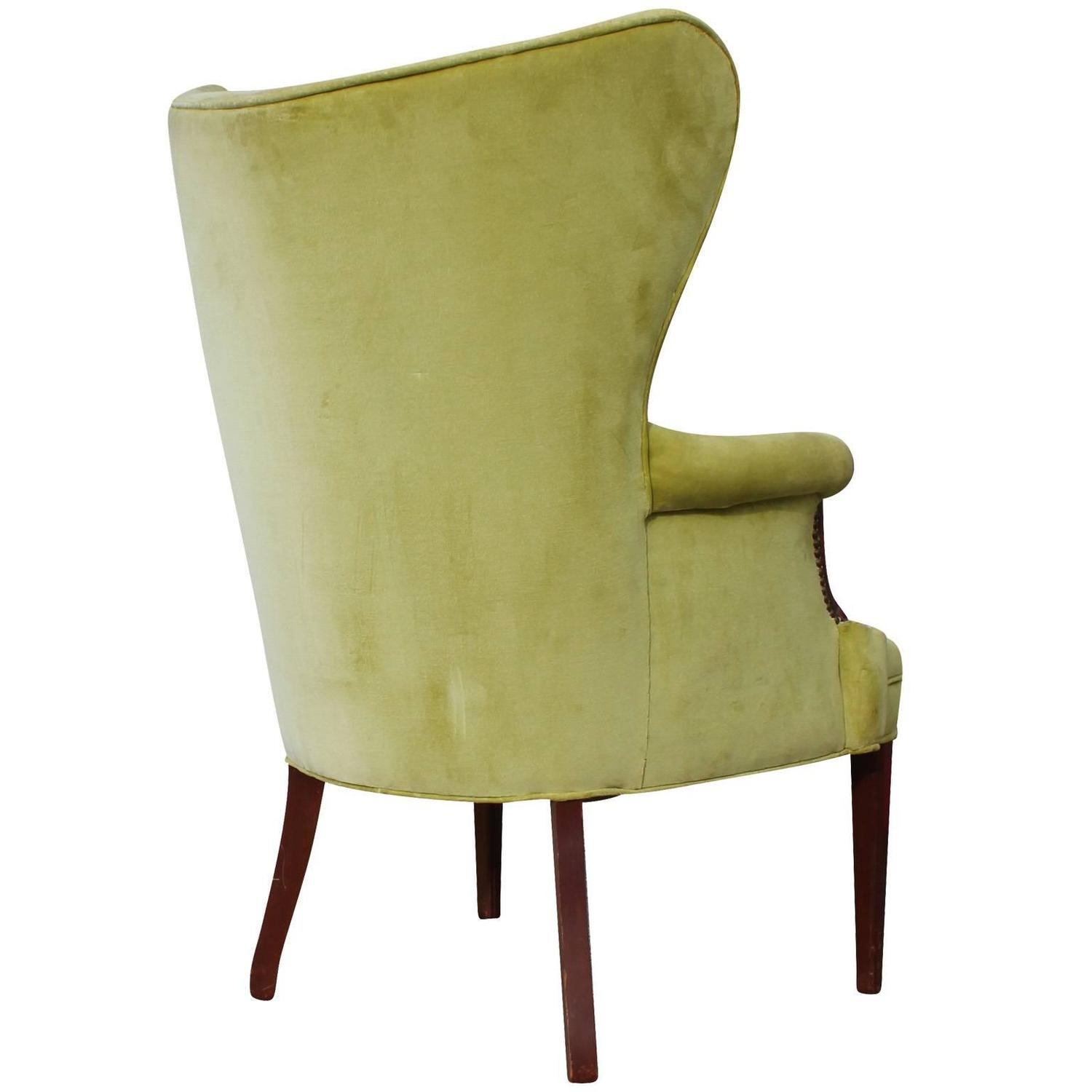 28 tall wingback chairs pair of tall wing chairs in cut vel