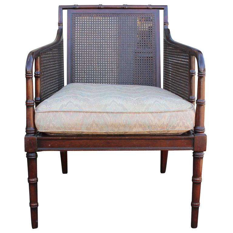 Attractive Bamboo And Cane Regency Style Lounge Chairs 3