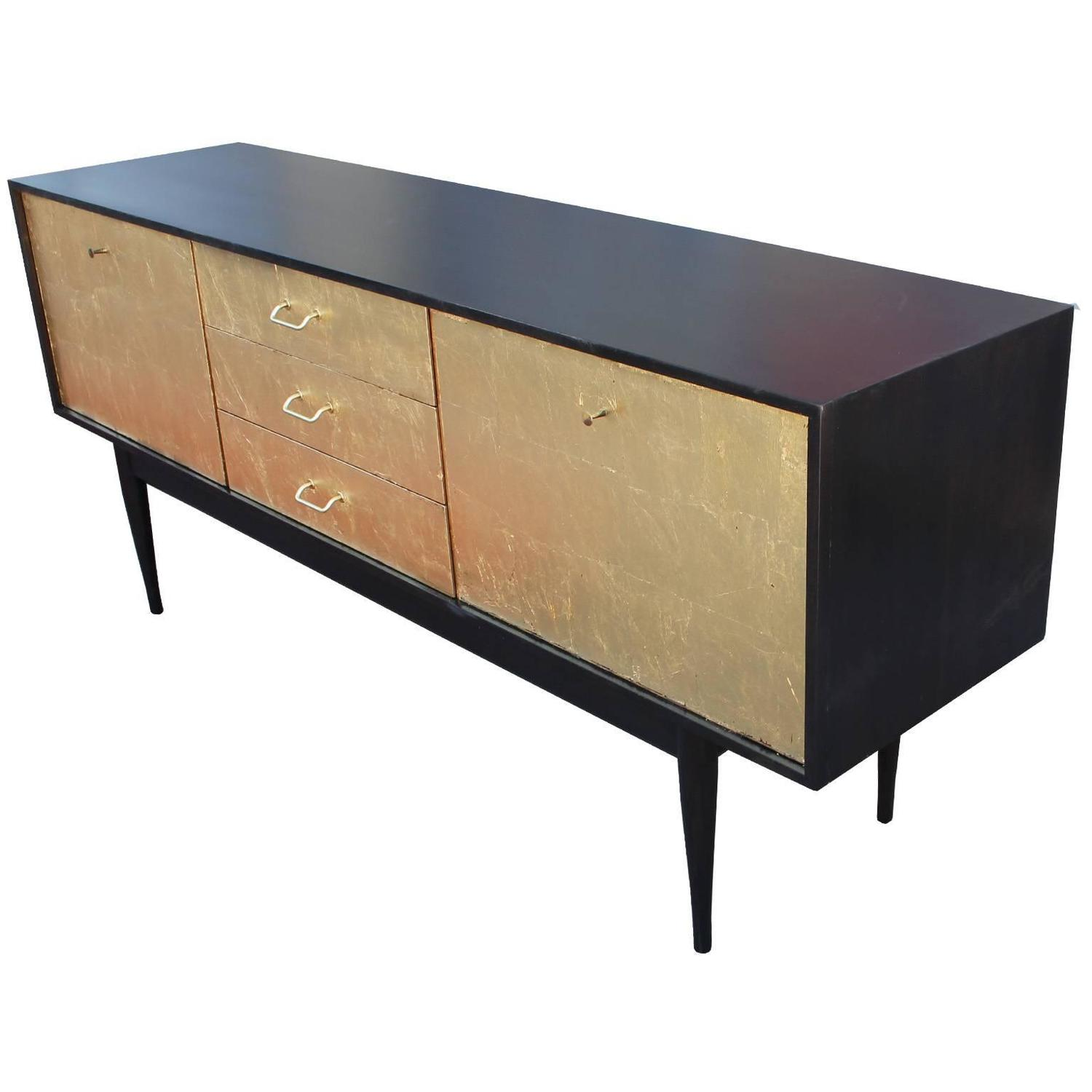 Ultra luxe gold leaf and ebonized sideboard for sale at for Sideboard gold