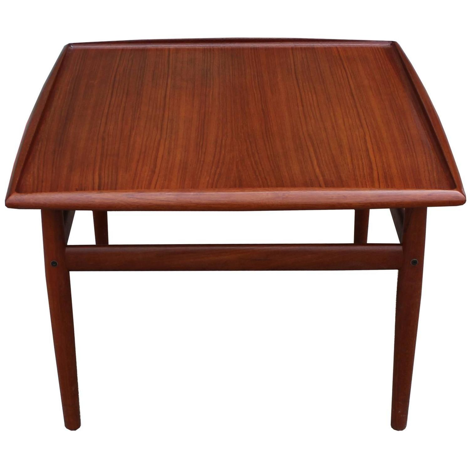 Danish teak square side table by grete jalk at 1stdibs for Square side table
