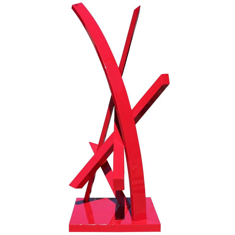 ... Large Red Abstract Outdoor Sculpture is no longer available