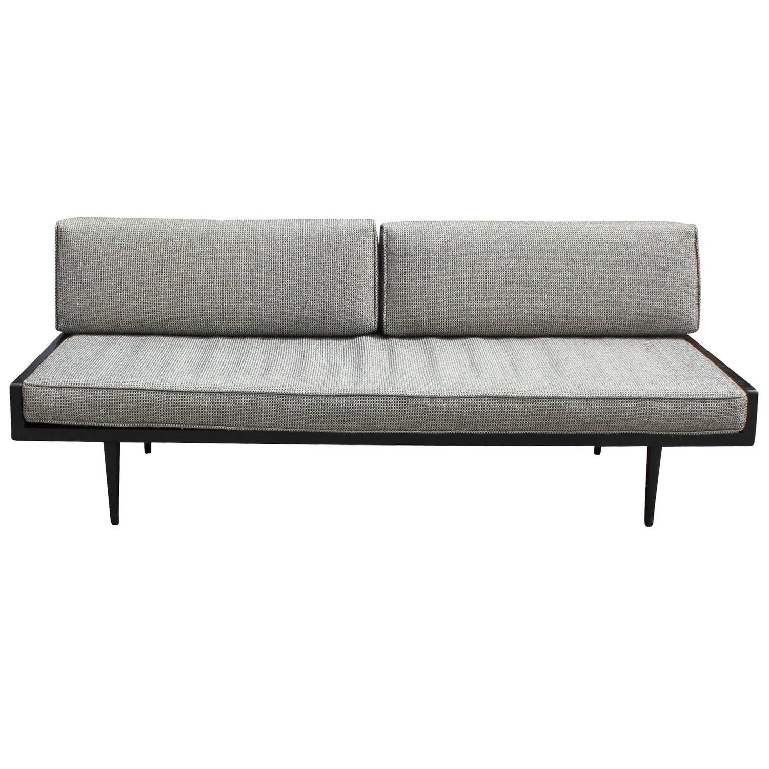 Sleek Armless Danish Style Sofa Or Daybed At 1stdibs