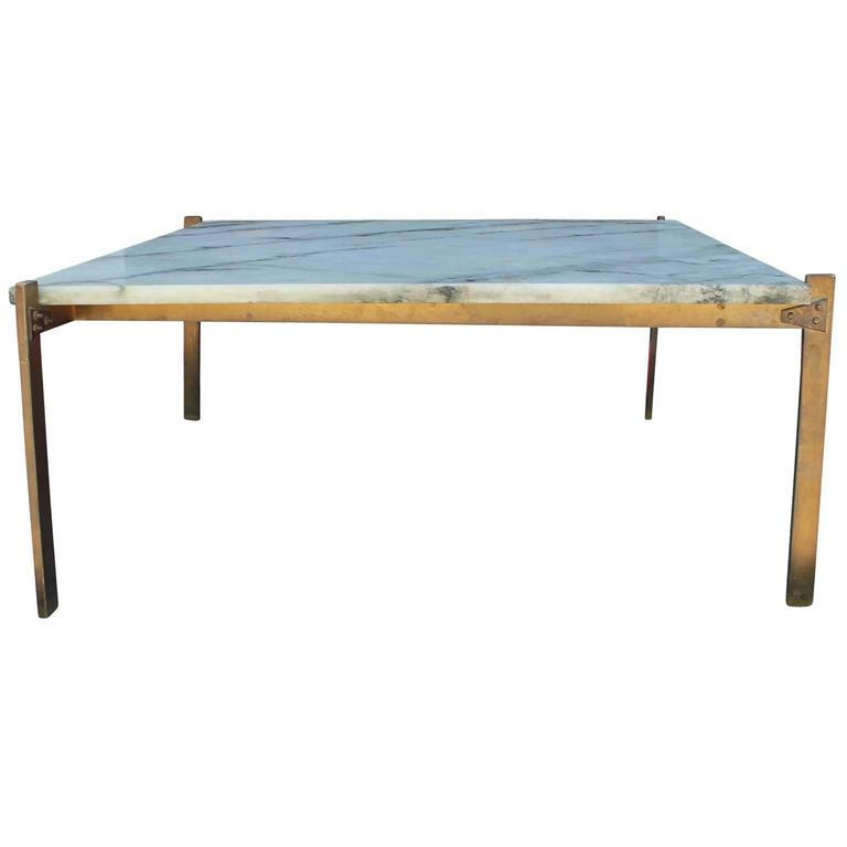 Italian style marble and bronze square coffee table at 1stdibs Tuscan style coffee table