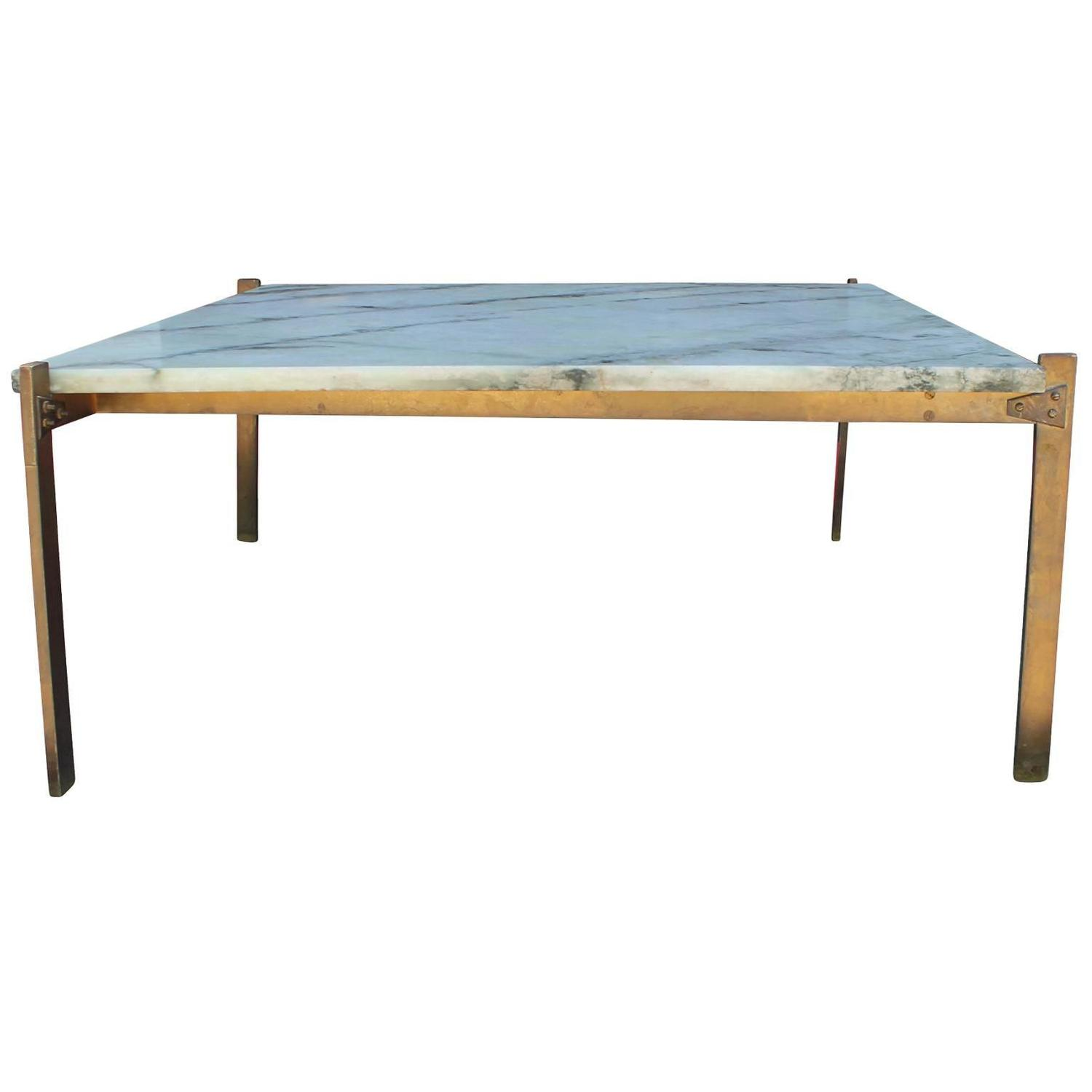 Marble Coffee Table Houston: Italian Style Marble And Bronze Square Coffee Table At 1stdibs