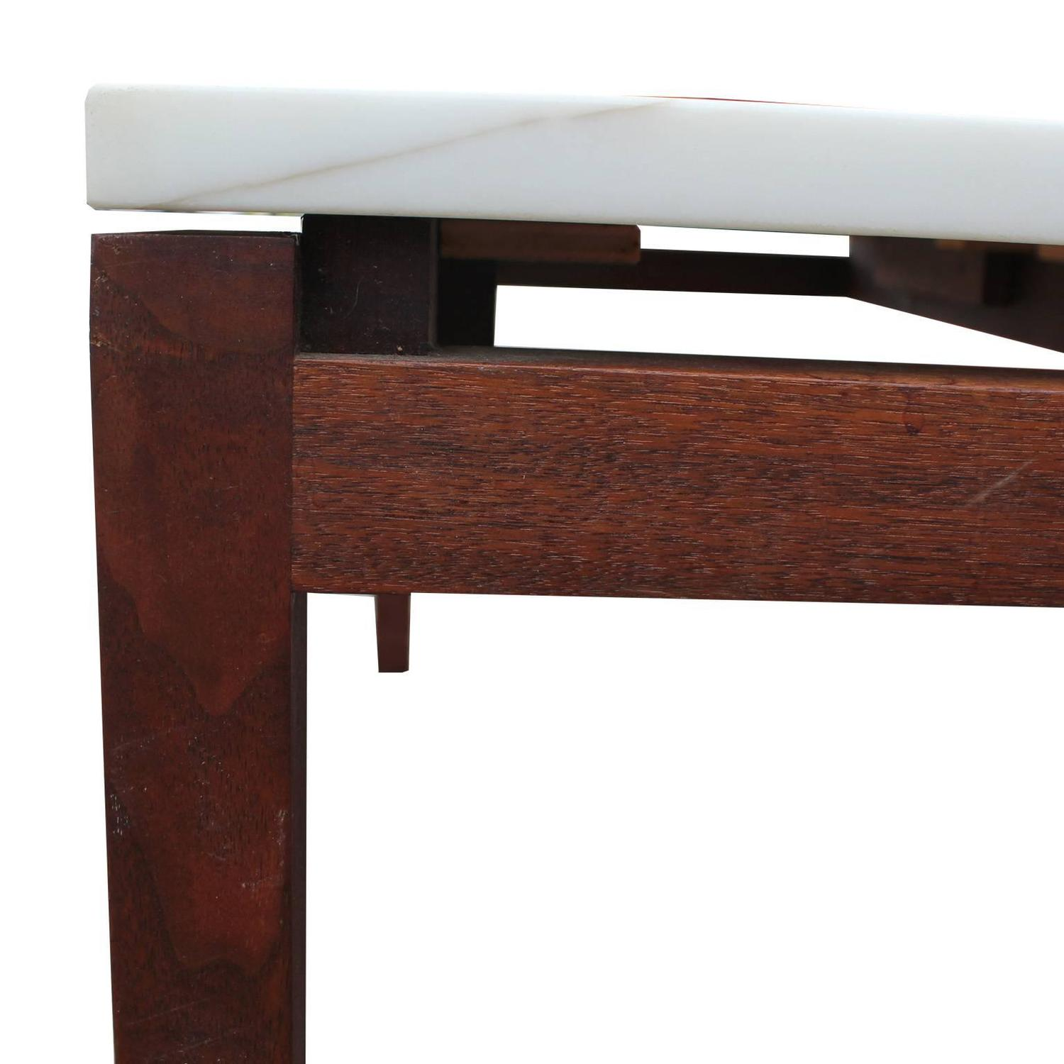 Marble Coffee Table Houston: Stunning Marble Square Knoll Lewis Butler Coffee Table For