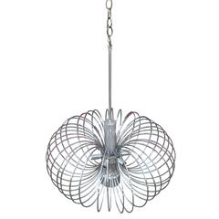 Modern Sciolari Chrome Chandelier or Pendant with Six Lights