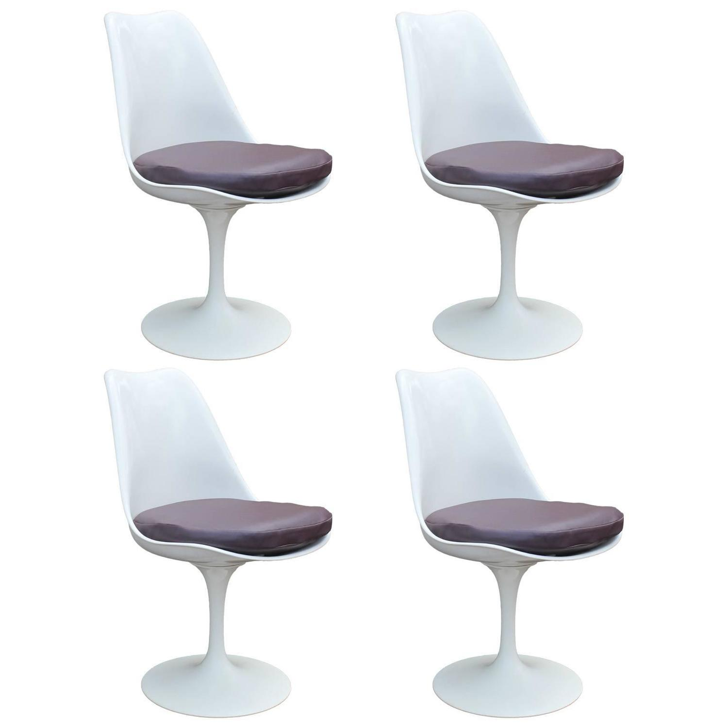 Set of six tulip chairs by eero saarinen at 1stdibs for Eero saarinen tulip armchair