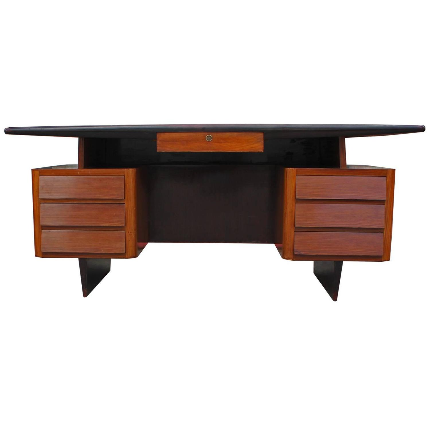 Striking two tone floating italian executive desk for sale for Floating desk for sale