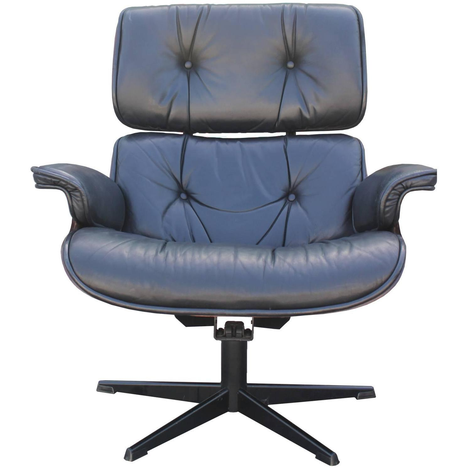 Iconic eames style lounge chair and ottoman at 1stdibs Iconic eames chair