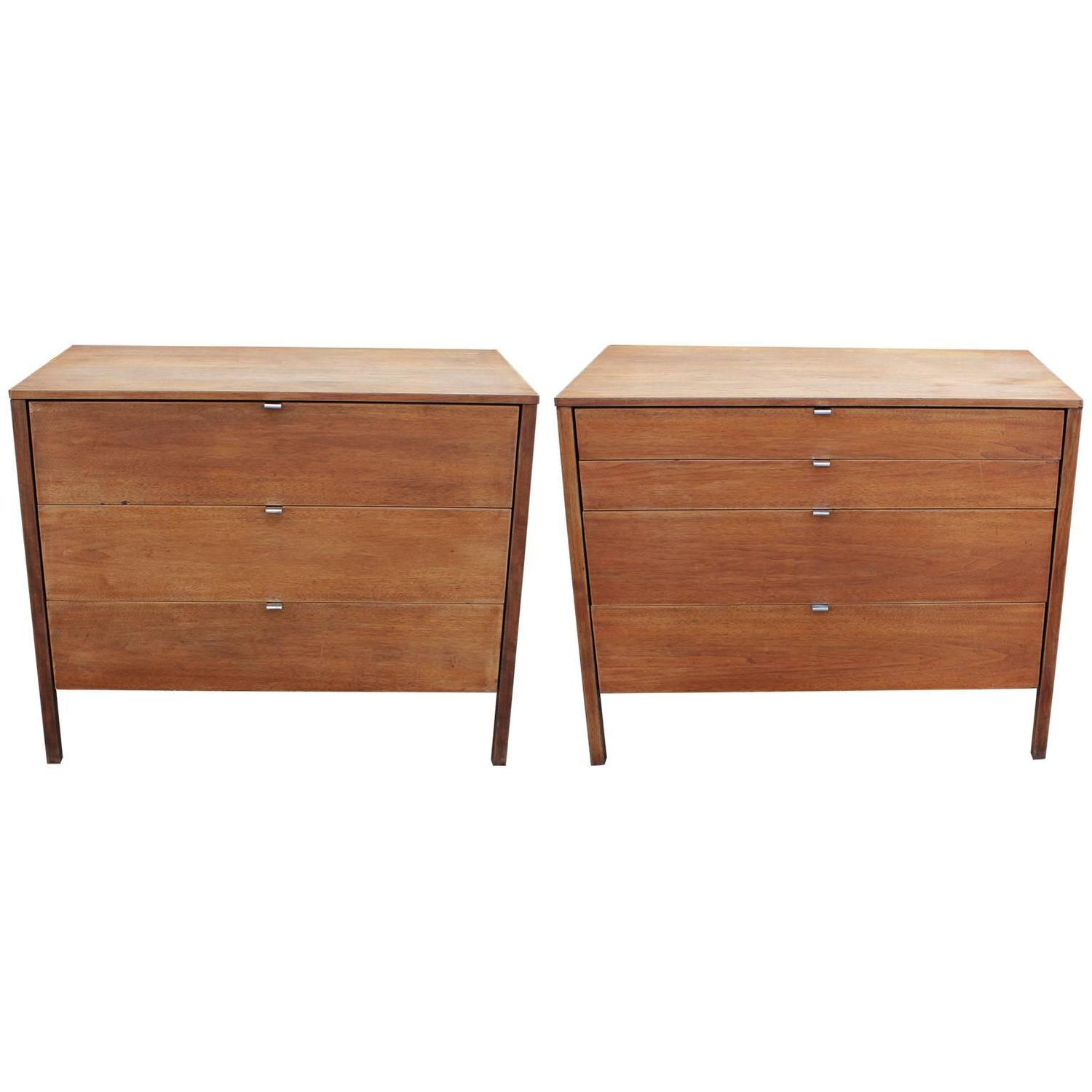 Excellent pair of clean lined nightstands or chests by knoll for sale at 1stdibs - Excellent furniture ...