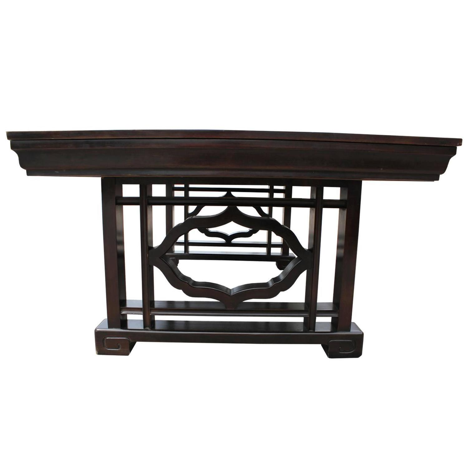 Elegant Widdicomb Dining Table With Service Drawers For