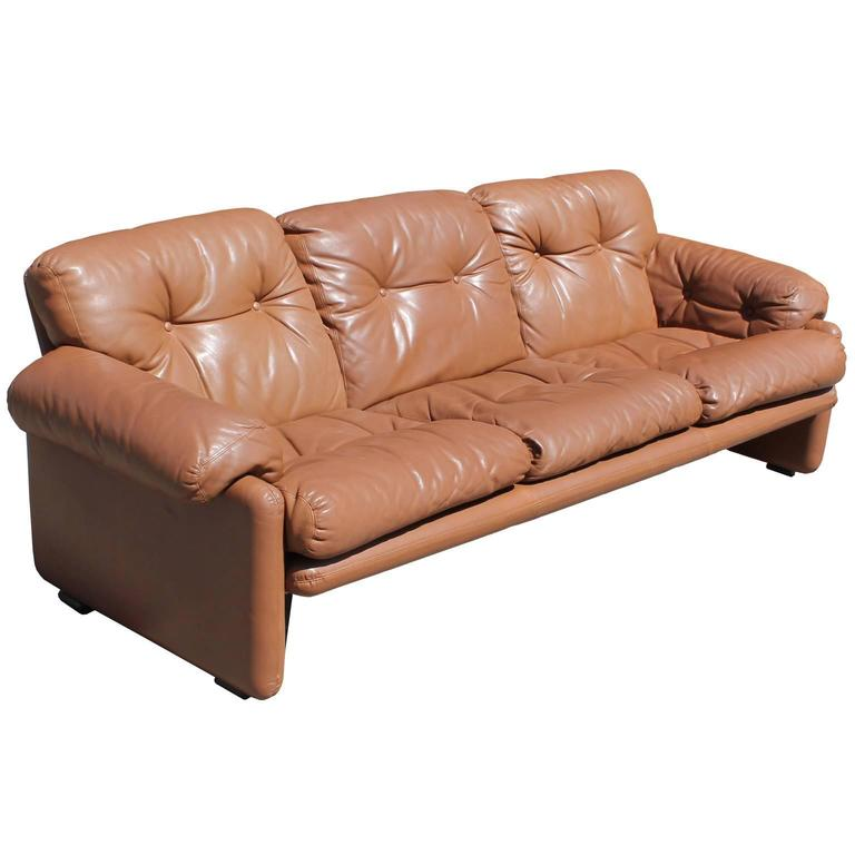 Merveilleux Wonderful Leather Sofa By Bu0026B Italia. Caramel Colored Leather Is In Great  Vintage Condition.