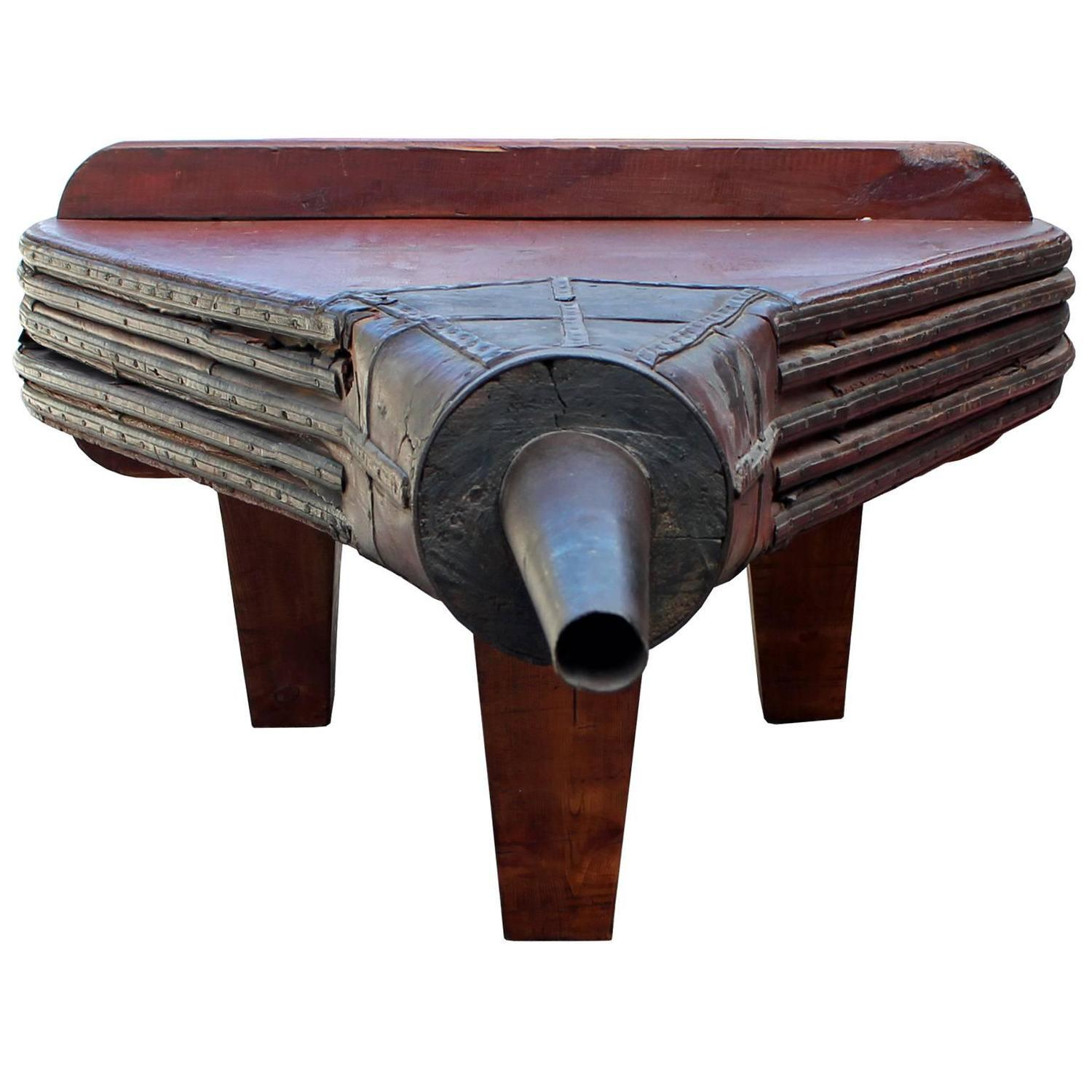 Unusual Three Legged Bellows Coffee Table For Sale At 1stdibs