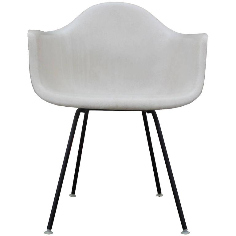 Iconic Pair Of Early Eames Fiberglass Modern Bucket Chairs