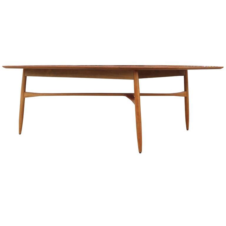 Exceptional Organic Sculptural Tri Leg Tall Modern Coffee Table