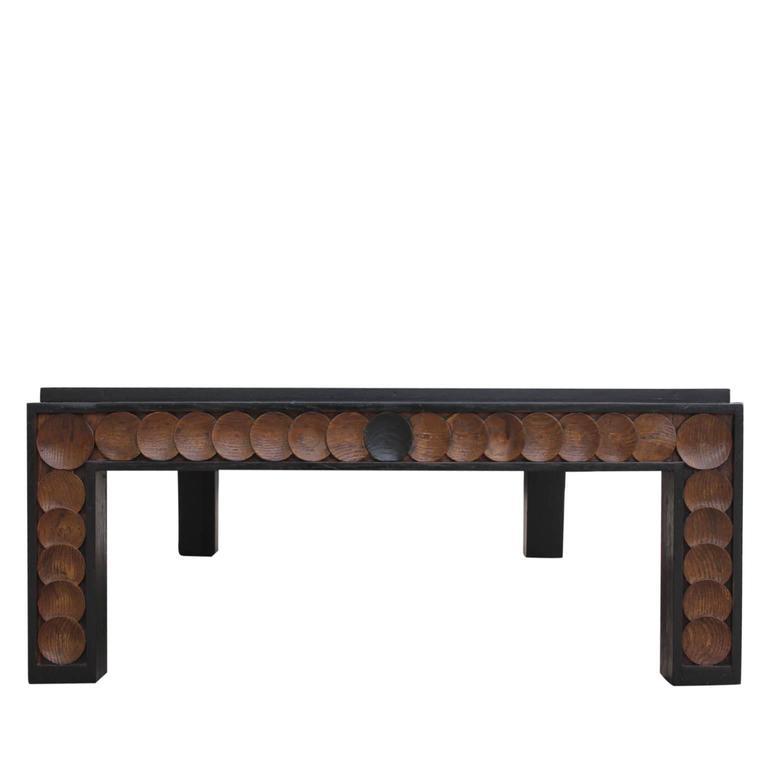 Large Modern Rectanglular Walnut Henredon Coffee Table at 1stdibs