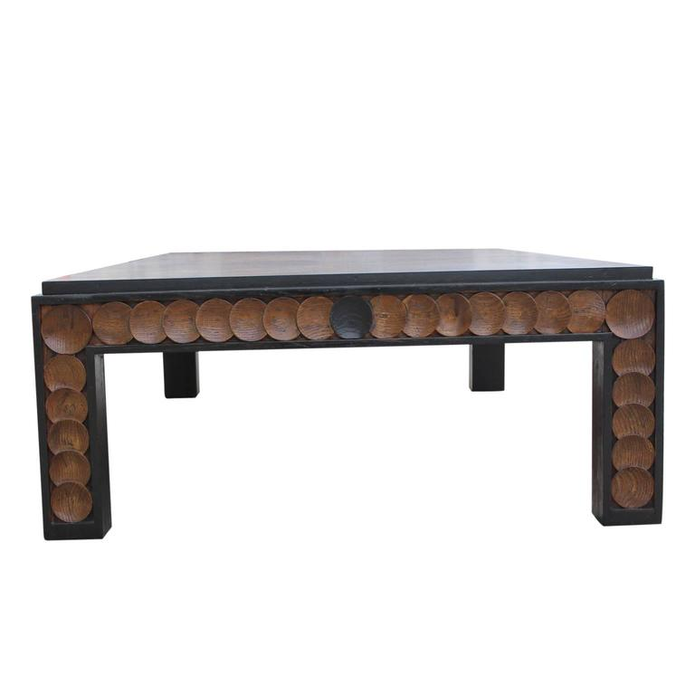 Large Modern Rectanglular Walnut Henredon Coffee Table At 1stdibs