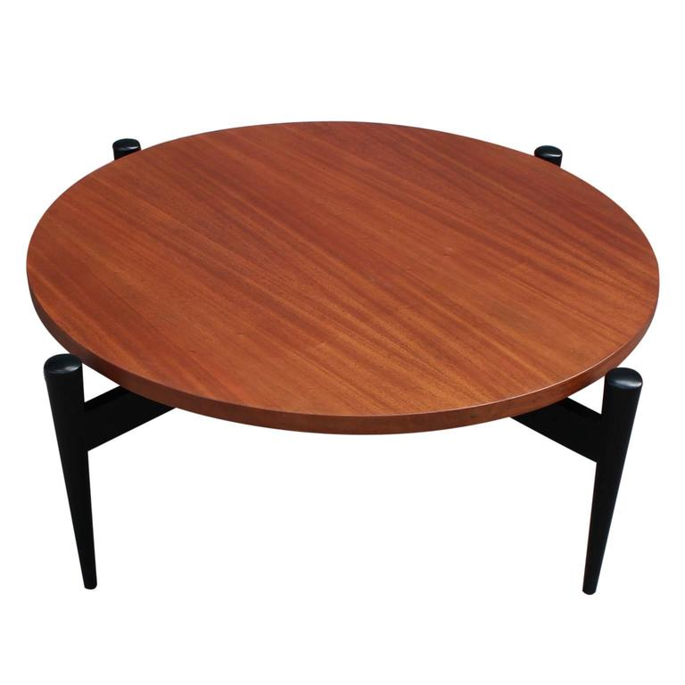 Italian Modern Style Round Two Tone Coffee Table For Sale At 1stdibs