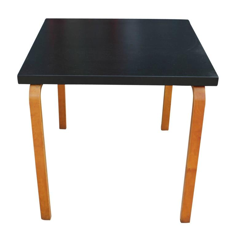 Modern alvar aalto two toned square game table for sale at for Contemporary game table and chairs