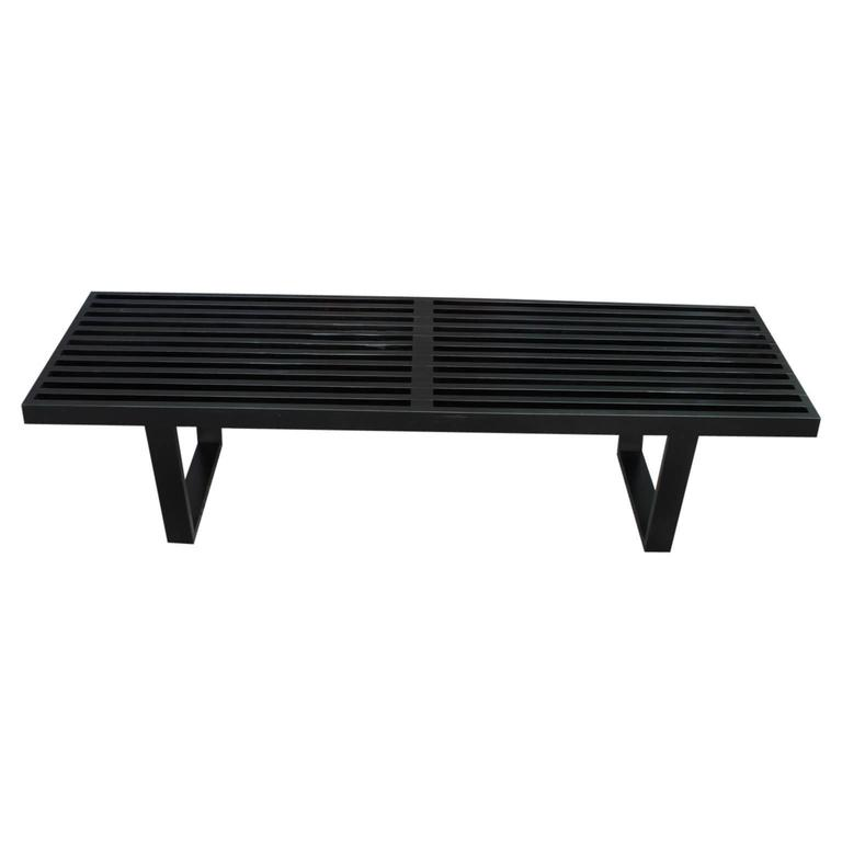George Nelson for Herman Miller Modern Black Platform Bench