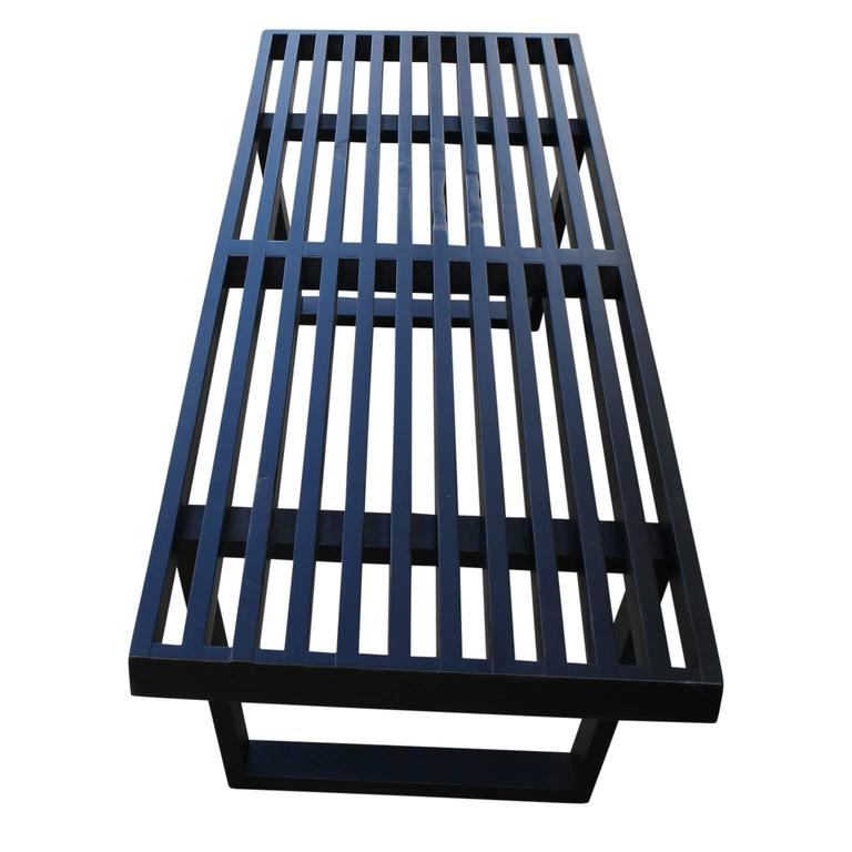 American George Nelson for Herman Miller Modern Black Platform Bench