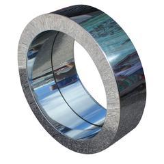 1970's Curtis Jere Chrome Porthole Circular Wall Mirror