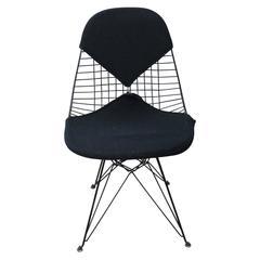 Early Eames Black Bikini Wire Chair