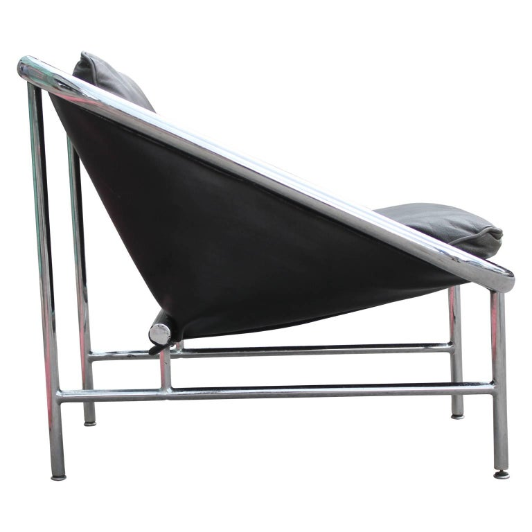 Modern George Nelson For Herman Miller Chrome And Leather