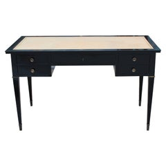 Argentine Maison Jansen Style Desk with Leather Top