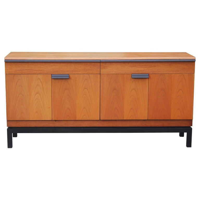 Modern Teak Two-Toned Sideboard