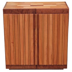 Modern Custom Studio Made Dovetailed Walnut & Mahogany Cabinet by Norm Stoecker