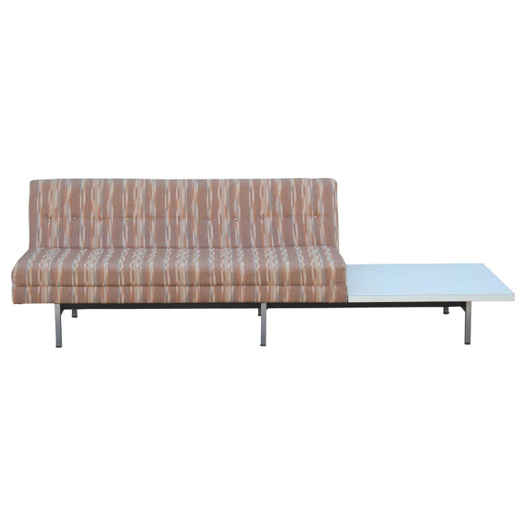 Modern George Nelson for Herman Miller Modular Group Sofa with Side Table For Sale