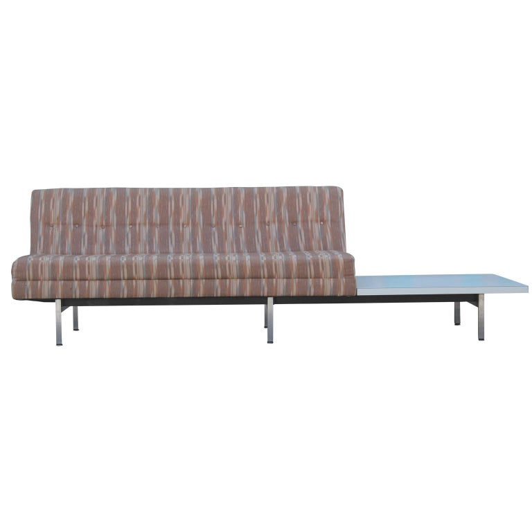 Modern George Nelson for Herman Miller sofa with a side table for their Modular Group line.