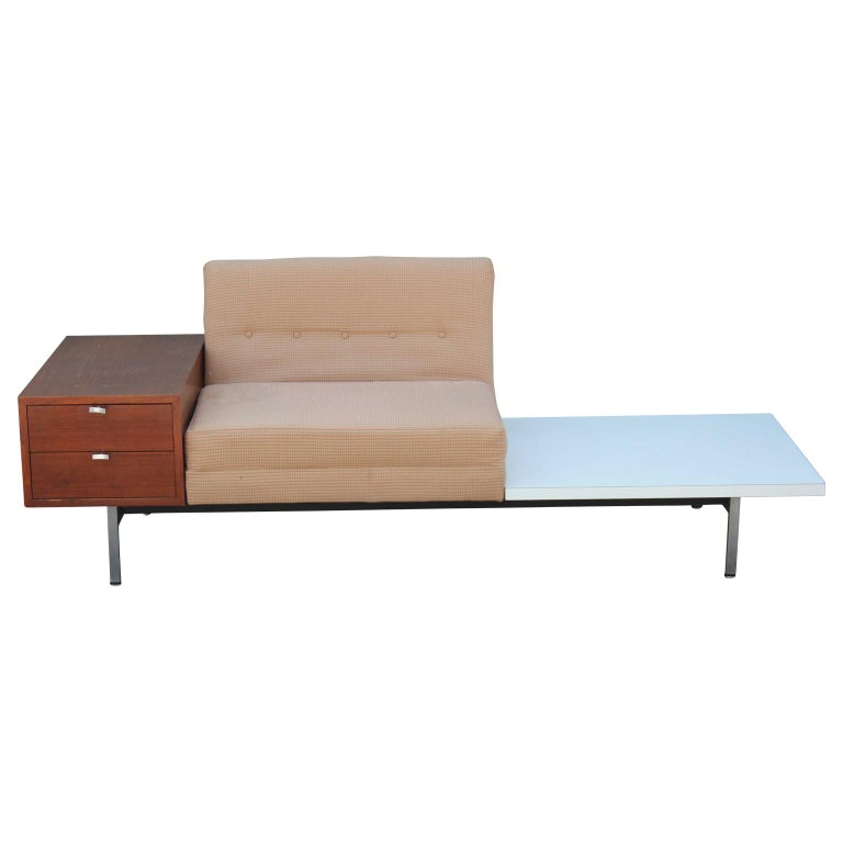Modern George Nelson Herman Miller Modular Group Sofa with Side Table & Drawers For Sale