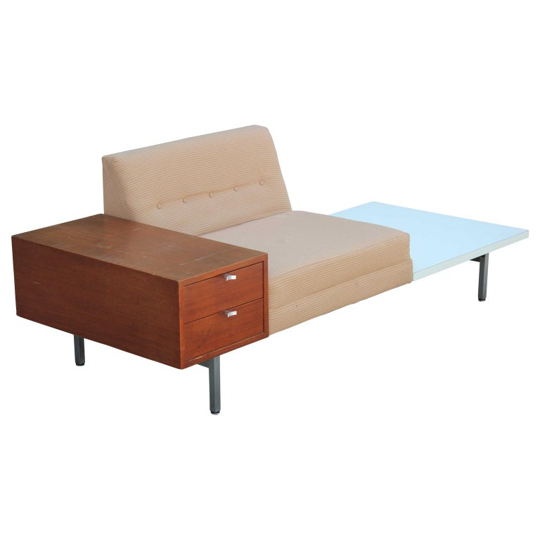 Mid-Century Modern Modern George Nelson Herman Miller Modular Group Sofa with Side Table & Drawers For Sale