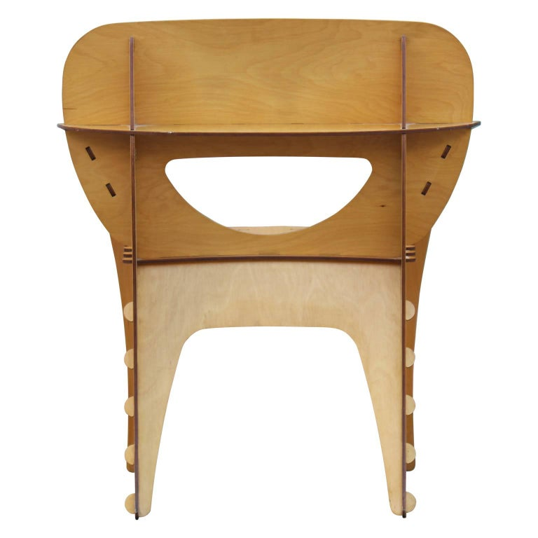 Modern Birch Plywood Design Puzzle Lounge Chair by David Kawecki For Sale 2