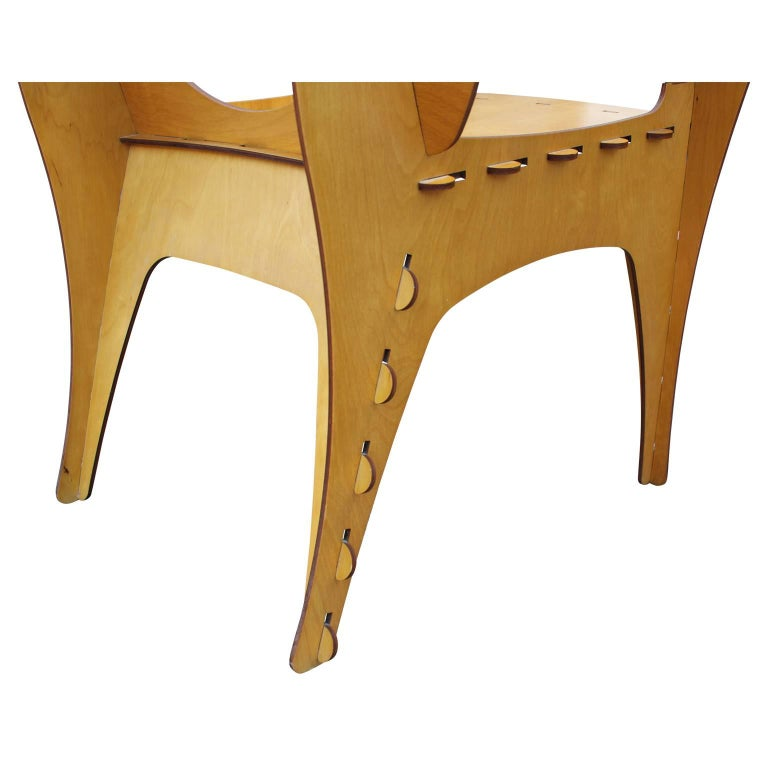 Modern Birch Plywood Design Puzzle Lounge Chair by David Kawecki For Sale 3