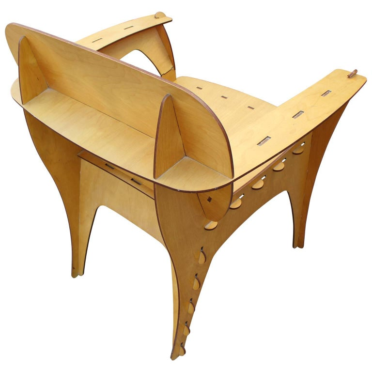 Modern Birch Plywood Design Puzzle Lounge Chair by David Kawecki For Sale 4