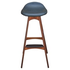 Modern Teak and Rosewood Bar Stool by Erik Buck for Odense Møbler OD61
