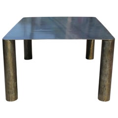 Sculptural Postmodern / Industrial Studio Made Steel Dining Table
