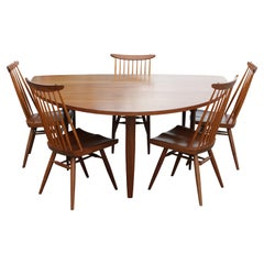 George Nakashima Model 793 Widdicomb Dining Table and New Chair Set of Five