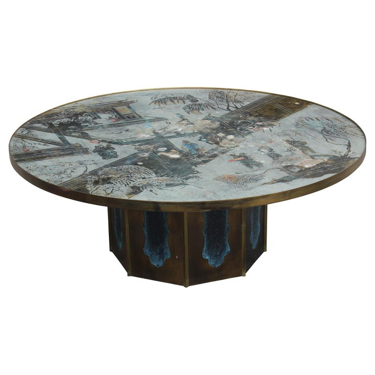 Philip & Kelvin LaVerne Chan Bronze Cocktail Coffee Table