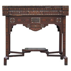 Incredibly Detailed Moroccan / Syrian Marquetry Game Table