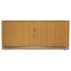 Modern Monumental Edward Wormley for Dunbar Tambour Door Mister Chest Credenza